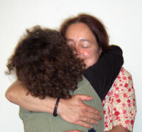 Anita and Mj Hug